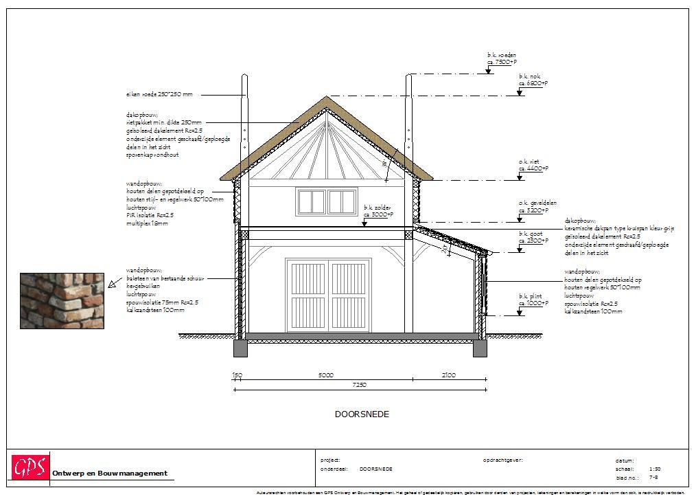 Nieuwbouw hooiberg annex garage te Meteren